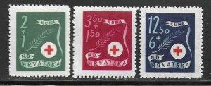 Croatia B77-B80  MNH  Complete