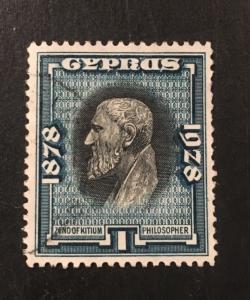 Cyprus Scott 115 1 Piastre 50th Anniversary British Colony-Used