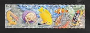 FISH - PAPAU #182a  STRIPOF 5  MNH