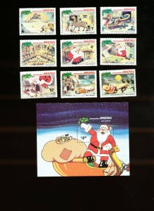 DOMINICA - Scott 706-715  VFMNH - DISNEY - Santa's Workshop, Christmas - 1981