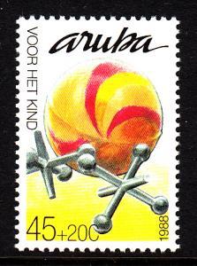 Aruba MNH Scott #B13 45c + 20c Jacks - Childrens' Toys