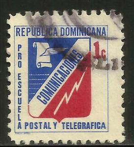Dominican Republic Postal Tax 1970 Scott# RA49B Used