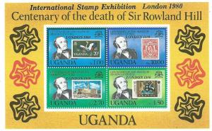 Uganda #278a Souvenir Sheet  of 4 #274-278  (MNH) CV $2.25
