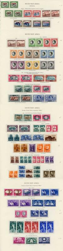 Collection of South West Africa KGVI on leaves cat 394.10 pounds