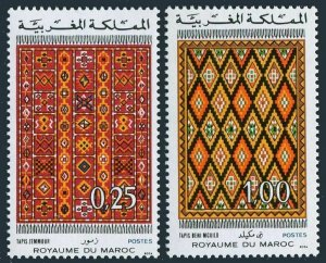 Morocco 326-327,lMNH.Michel 791-792. Rugs,1973.Zemmour & Beni Mguilo rugs.