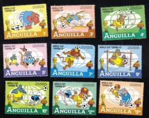 1982 Anguilla Scott 492-500 Disney World Cup MNH