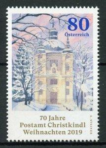 Austria Christmas 2019 MNH Christkindl Post Office Architecture 1v Set
