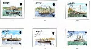 Jersey  Sc 975-80 2001 Jersey-France Ships stamp set used