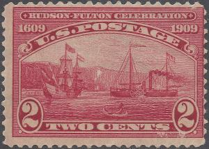# 372 2c Hudson-Fulton Celebration 1909 Mint H OG