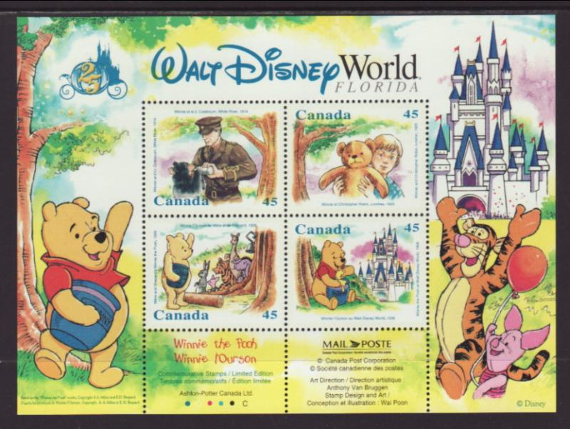 Canada 1621b Disneys Souvenir Sheet MNH VF