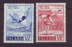 J19182 Jlstamps 1957 iceland set mnh #300-1 sports