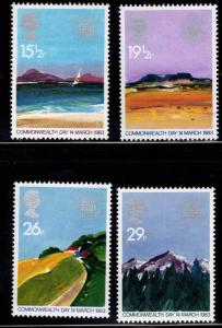 Great Britain Scott 1015-1018 MNH** 1983 Commonwealth set