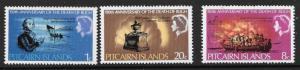 PITCAIRN ISLANDS SG82/4 1967 ADMIRAL BLIGH MNH