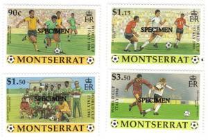 Montserrat #748-51 MNH SPECIMEN soccer