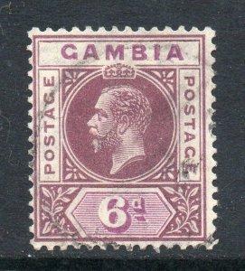 Gambia 1921 KGV 6d wmk MSCA SG 114 used