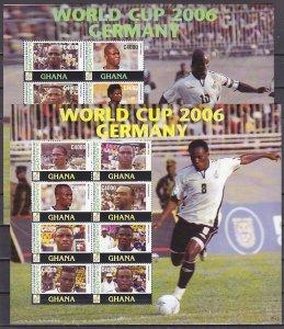 Ghana, Scott cat. 2562-2563. World Cup Soccer on 2 sheets of 8. ^
