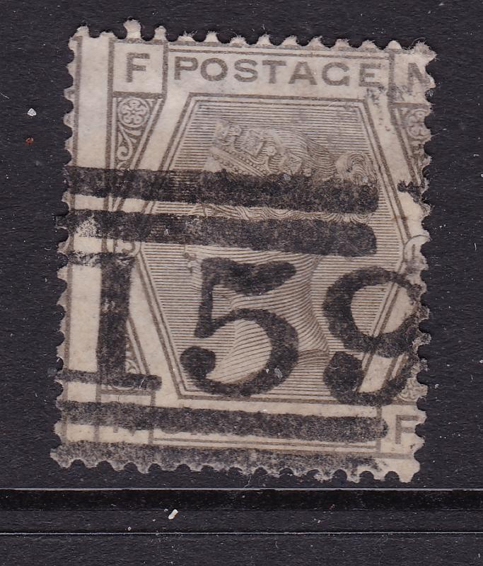 Great Britain a QV 6d grey plate 15 used