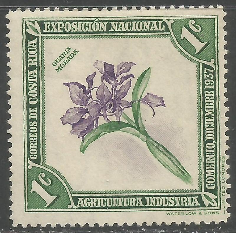 COSTA RICA 184 MOG ORCHID X853-1