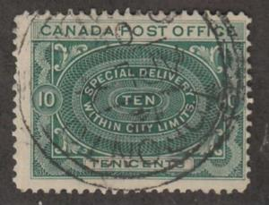 Canada Scott #E1 Special Delivery Stamp - Used Single
