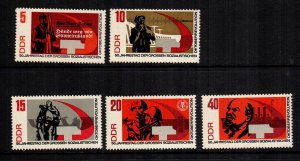 Germany DDR  955 - 959  MNH cat $ 3.05