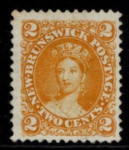 CANADA - New Brunswick QV SG11, 2c orange-yellow, UNUSED. Cat £45.