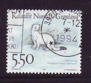 Greenland Sc 270 1994 5.5 kr ermine stamp used