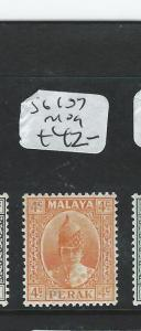 MALAYA PERAK (P1006B)  SULTAN 4C SG107  MOG