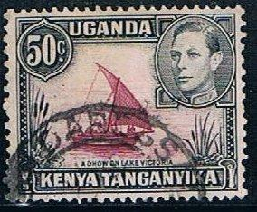 Kenya, Tanganyika, Uganda 79, 50c Dhow, used, VF