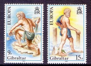 Gibraltar  #400-401  MNH  1981  Europa Hercules