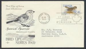 FDC SG 639 SC# 497 SPECIAL - please read details - Birds