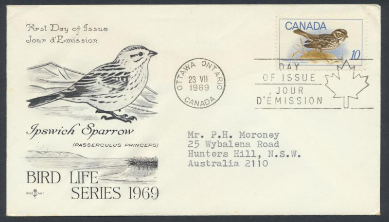 FDC SG 639 SC# 497 SPECIAL - please read details - Birds