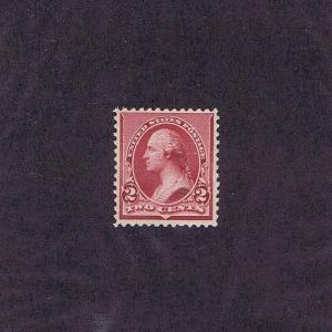 SC# 219D UNUSED ORIGINAL GUM MINT NH 2c WASHINGTON, 1890, PSE CERT WOW