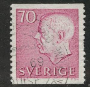 SWEDEN Scott 654 used 1967 70o coil