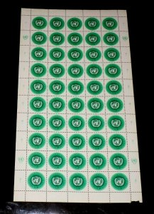 U.N. GENEVA #11, 1970 DEFINITIVE ISSUES, SHEET/50, NICE!! LQQK!!