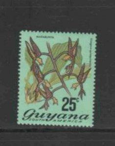 GUYANA #141A 1971 25c FLOWER MINT VF NH O.G