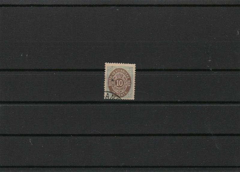 danish west indies 1873 cat £180 used  stamp ref r9681