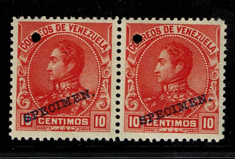 Venezuela 1899 10c red Specimen, Mint Never Hinged, pair - S1416