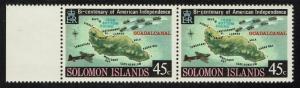 Solomon Islands SG# 324w Pair - WMK Crwon Right - Mint Never Hinged - Lot 061216