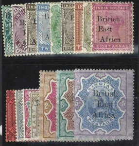 British East Africa 1895 SC 54-71 MLH Set