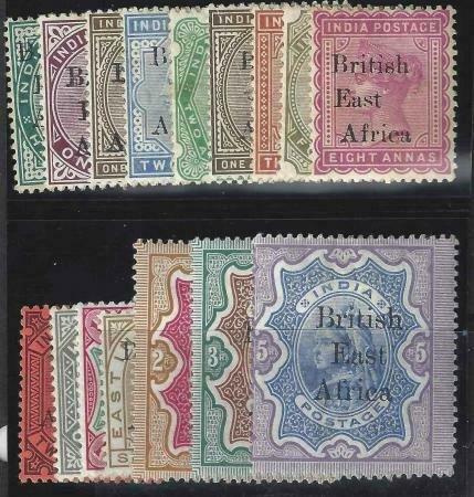 British East Africa 1895 SC 54-71 MLH Set