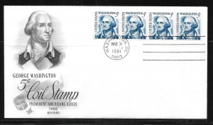 United States 1304C 6c Washington Re-Drawn Artcraft First Day Cover FDC (z1)