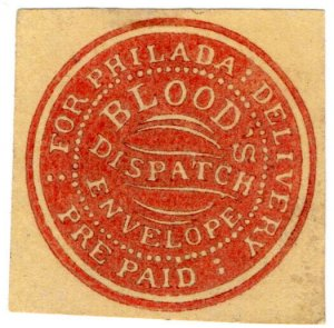 (I.B) US Local Post : Blood's Pre-Paid Dispatch Envelope