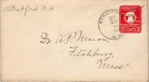 United States New Hampshire Stratford 1927 4c-bar  1811-1960  Postal Statione...