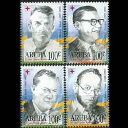 ARUBA 1996 - Scott# 130-3 Famous Persons Set of 4 NH