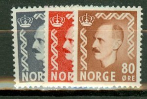 P: Norway 307-317, 322-6 mint CV $93; scan shows only a few