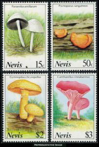 Nevis Scott 552-555 Mint never hinged.