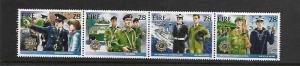 IRELAND,726A, MNH, STRIP OF 4, IRISH SECURITY FORCES
