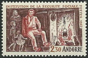 French Andorra - 177  - MNH  - SCV-9.75