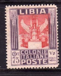 LIBIA 1931 PITTORICA E SIBILLA CENT. 75 C DENT. PERF. 14 MLH