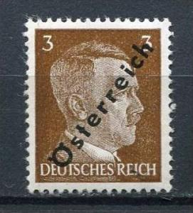 Austria/Germany 1945 MI 663 A IV Sc Note After 393 MNH Overprint  Osterreich ...